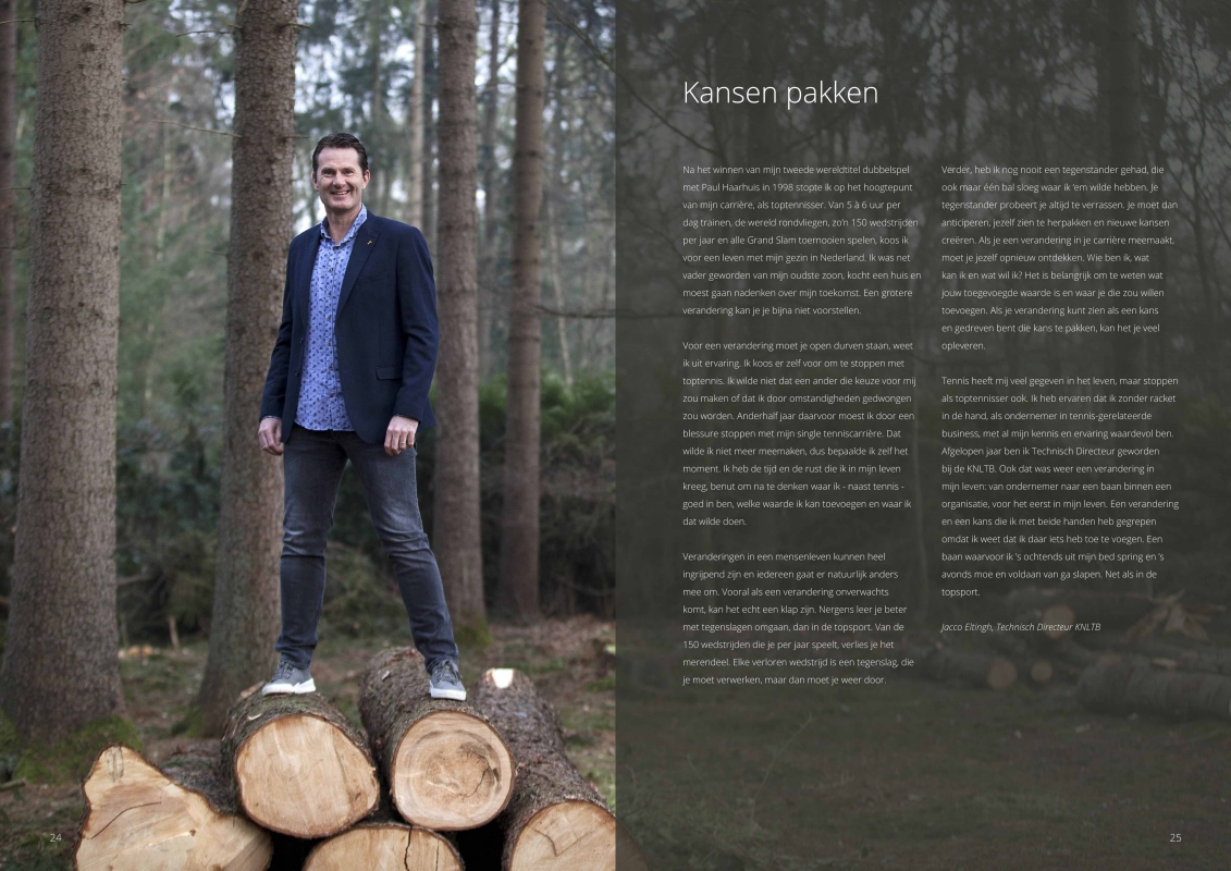 New Destinations (KLM) Magazine - Covershoot met Jacco Eltingh