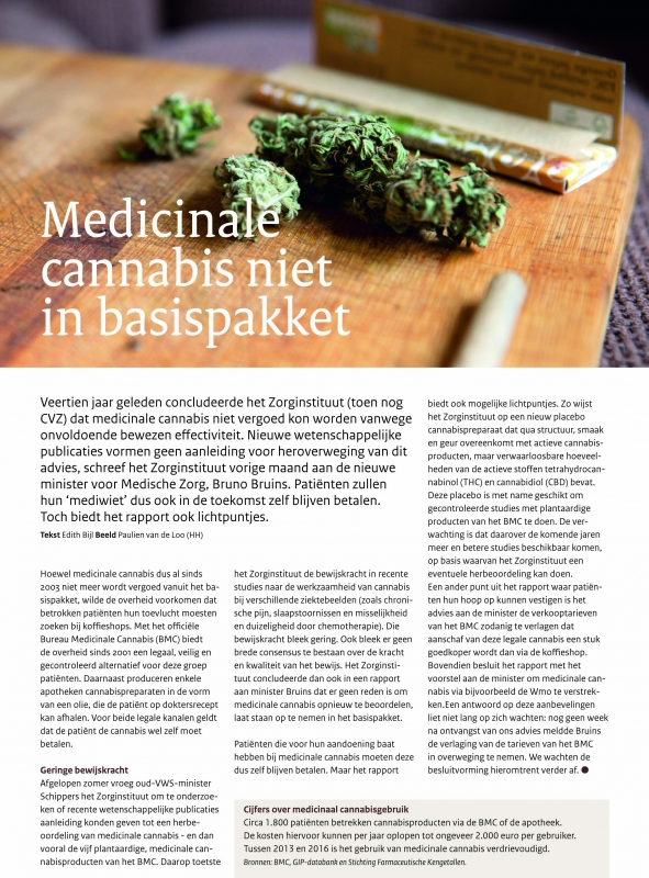 Zorginstituut Magazine- publicatie december 2017